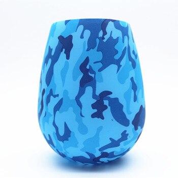 Άθραυστα Εύκαμπτα Ποτήρια από Σιλικόνη για Ύπαιθρο, Κάμπινγκ και Πικ-νικ σε Πολύχρωμα Σχέδια