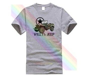 Camiseta de gran oferta para hombre, camiseta de Willys Jeep, camiseta militar...