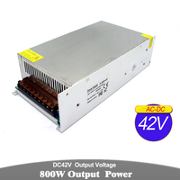 DC42V 19A 800W Driver Switching Power Supply 110V 220V AC to 42V DC Constant Voltage Transformer Monitoring CCTV CNC Router