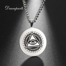 Dawapara todo ver ojo colgante collar el ojo de la Providencia joyería de acero inoxidable joyas de religión