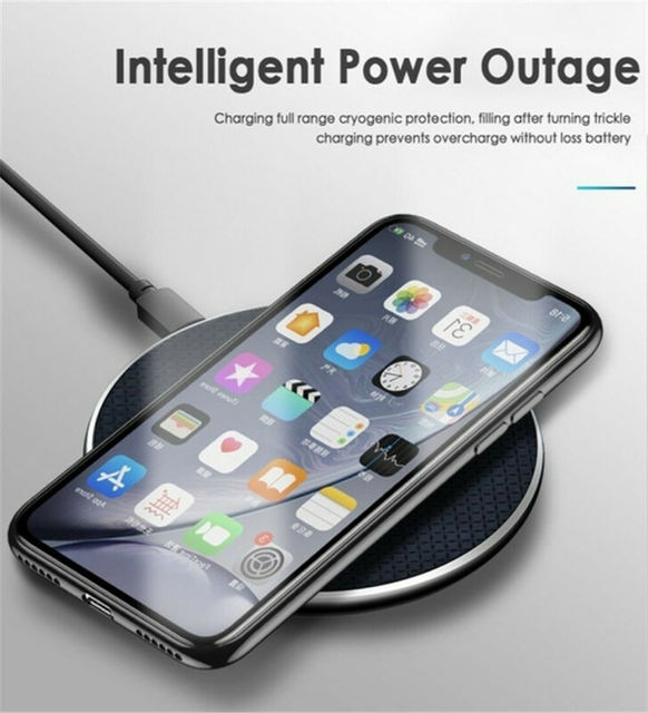 K8 Ultra-Slim 10W Qi Wireless Fast Charger Pad Mobile Phone Charging Dock for Samsung iPhone