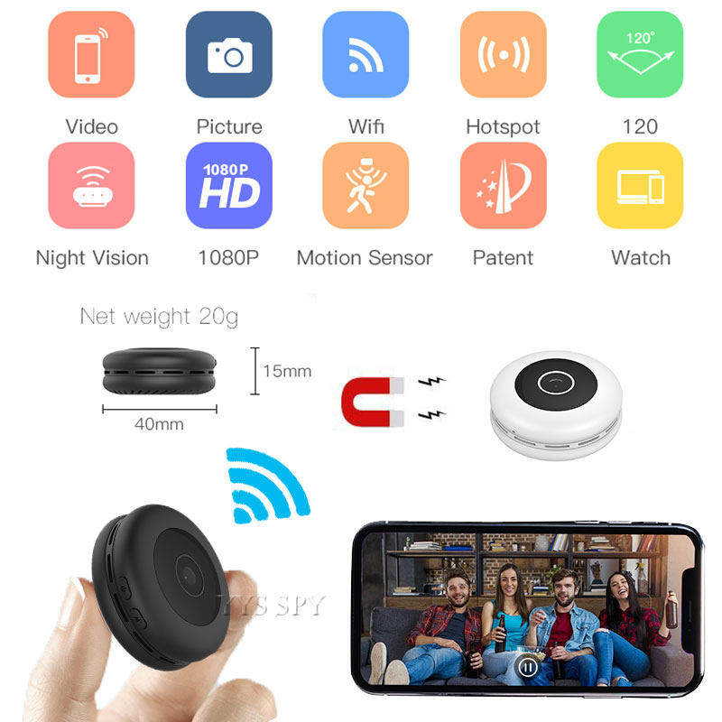 Motion Activated and Loop Recording Support Remote View 16GB 720P HD Wifi Hidden Nanny Camera LED Light Bulb Camcorder with IR Night Vision