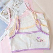 10pcs/Lot Children's Breast Care Girl Bra 6-12 Years Hipster Cotton Teens Teenage Underwear Summer Kids Vest
