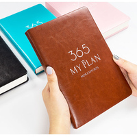Ruize Creative Leather Notebook A5 Self-filled Schedule Agenda Planner 2020 Office Plan Note Book Business Notepad Thick Paper