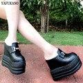 Босоножки на очень высоком каблуке 13 см, визуально увеличивающие рост сандалии на танкетке летние шлепанцы на платформе 2020 г. Модные женски...