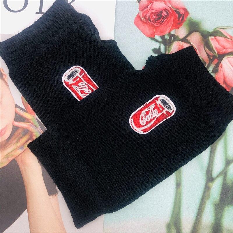 ZAOLIHU Fashion Drink Designers Women Gloves Warm Winter Half Finger Gloves Black Knitted Mens Gloves Funny Female Gloves