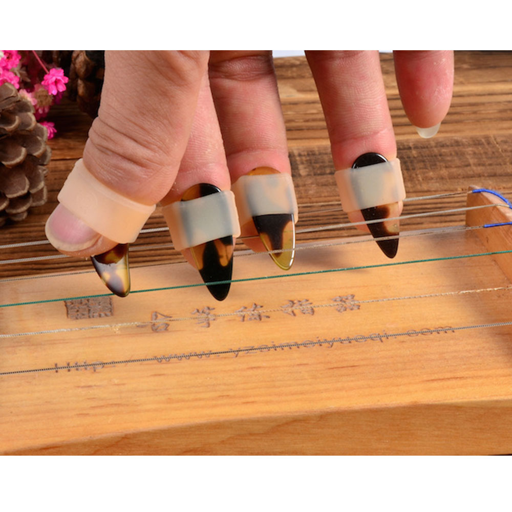 Guzheng Nail Set Chinese Zither A Box Of Four Guzheng Accessories La Cetra