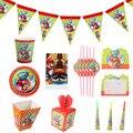 Супер Братья Салфетка скатерть Бумага пластины Baby Shower украшения супер-Марио тематические праздничные товары для дня рождения