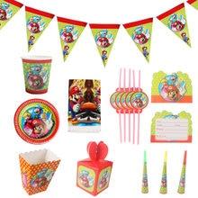 Super irmãos guardanapo toalha de mesa placa de papel chá de bebê decoração super-mario tema festa de aniversário suprimentos