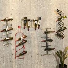 Wine-Rack Bar-Decoration Industrial-Style Red Retro Creative