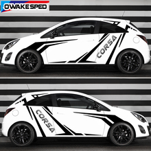 1set Racing Sport Styling Both Side Decor Stickers Car Door Accessories Vinyl Decals Auto Body Stickers For Opel Corsa OPC c e d