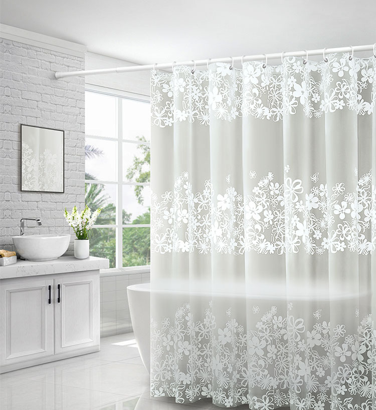 US Transparent Shower Curtain Fish Transparent Plastic Bathroom Hot 180 x 200cm