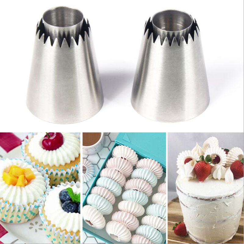 1PC New Icing Piping Nozzles Cookie Biscuit Russian Ice Cream Pastry Tips Cake Mold Cake Decorating Tools Kitchen Gadgets