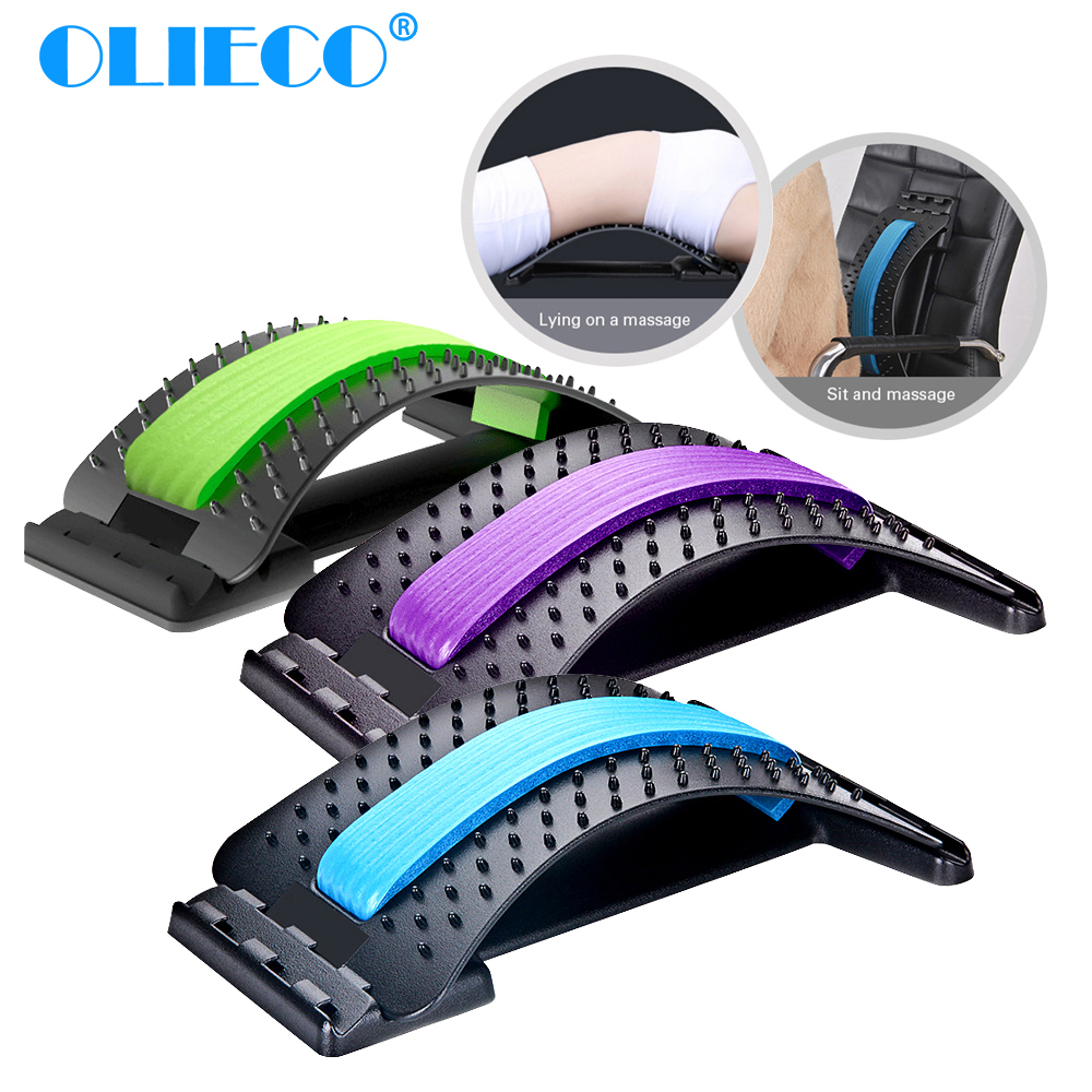 OLIECO Lumbar Support Spinal Pain Release Corrector Back Waist Stretching Back Massager Magic Stretcher Fitness Health Care