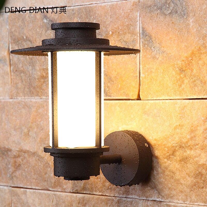 European Outdoor Lighting Garden Wall Light E27 LED Waterproof Wall lamp Aluminum Front Door Porch light PC Diffuser High power