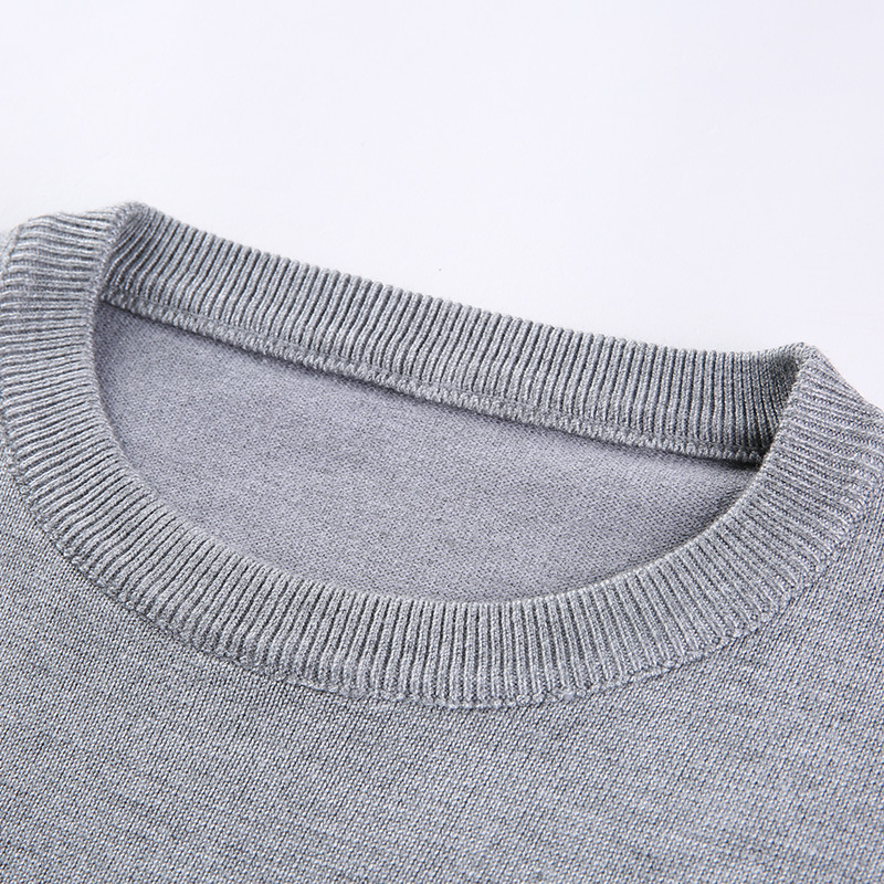 LUX ANGNER New Men Sweater O-Neck Striped Slim Fit Knittwear Autumn Winter Mens Sweaters Pullovers Men Brand Clothing