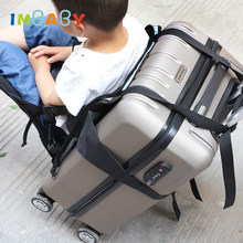 IMBABY Koffer Baby Stoel Waterdichte Oxford Seat mat Kind Band Reizen Artefact Vouwen Baby Draagbare Band Kids Bagage Seat(China)