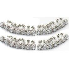 2Pcs Steel Piercings Nose Ring Silver Studs Bone Nostril Screw Earring Body Jewelry