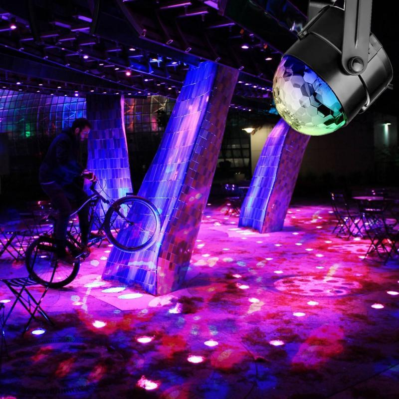 Led Disco Light Stage Lights DJ Disco Ball Sound Activated Laser Projector Effect Lamp Light Music Christmas Party 4