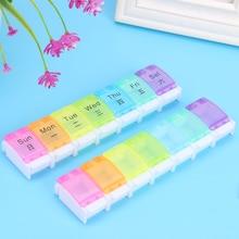 Dispenser-Box Button-Holder Pill-Medicine Weekly Rainbow Portable Storage Multi-Functional