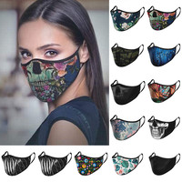 Adult Cycling Running Dustproof Windproof Protective Washable Mask PM2.5 Print Anti-dust Reusable Mouth Face Masks#40