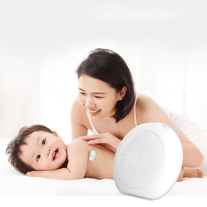 Fanmi FL - BFM001 24 Hour Intelligent Baby Fever Monitor With Wireless Alerts Wearable Smart Thermometer For Infant Toddlers