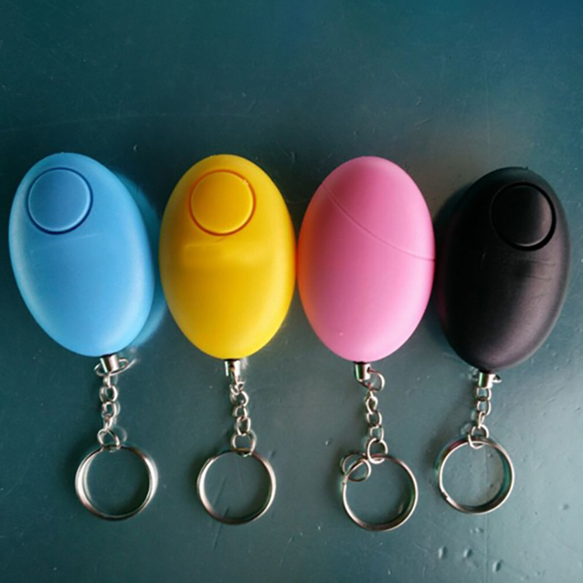 120dB Egg Shape Multi-Function Self Defense Alarm Key Chain Self-defense Security Protect Alert For Woman Girls Old Man Child