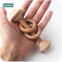 1 шт деревянные детские погремушки игрушки буковая древесина