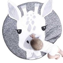 2019 New Cartoon Giraffe Animal Baby Kids Crawling Game Pad Round Floor Play Mat Children Room baby game pad knee pad for kids safety cartoon floor play mats toy crawling baby game mat for keep baby warmer education gift
