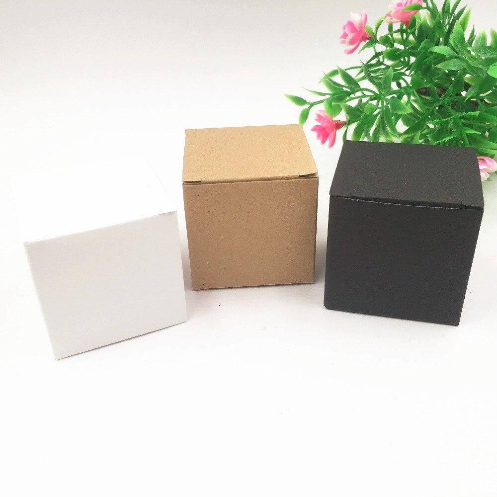 100 pcs/lot Kraft papier boîte cadeau Vintage bonbons boîtes de mariage fête faveur décoration 5*5*5cm