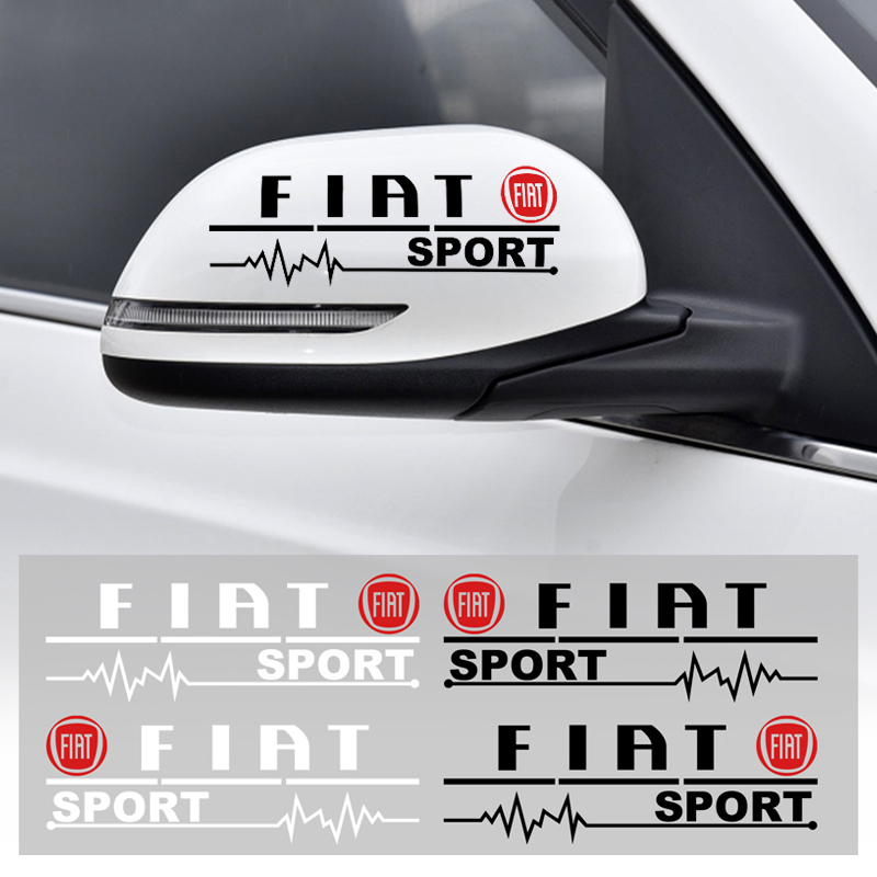 2pcs Car-styling Rearview Mirror Reflective Car Stickers Decoration For Fiat 500 500x Ducato Tipo Panda Bravo Doblo Freemont