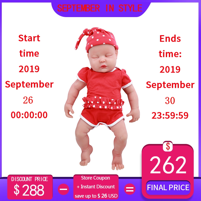 IVITA WG1510 47cm 3.67kg Meisje Ogen Gesloten Hoge Kwaliteit Full Body Siliconen Reborn Poppen Geboren Alive Brinquedos Realistische baby Speelgoed-in Poppen van Speelgoed & Hobbies op  Groep 1