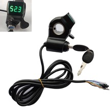 12V 24V 36V 48V 60V 72V Electric Bike Thumb Throttle with key lock LCD Display gas for electric bicycle/scooter/e-bike