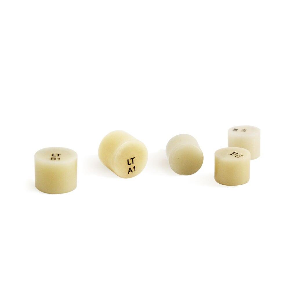 5 Pieces Porcelain Ingots Press Disilicate Lithium Block A1-D4