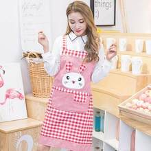 New spring apron sleeveless back with polyester cotton Korean version of fashion kitchen anti-fouling cute dress cover