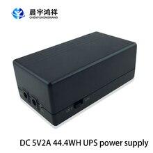 Multiuso mini ups bateria 5v 2a 44.4wh backup de segurança em espera fonte de alimentação ininterrupta 111x60x43mm