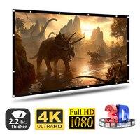 100/120 дюймов 16:9 проектор экран полиэстер портативный складной передний/задний не складывается дизайн домашний проекционный экран