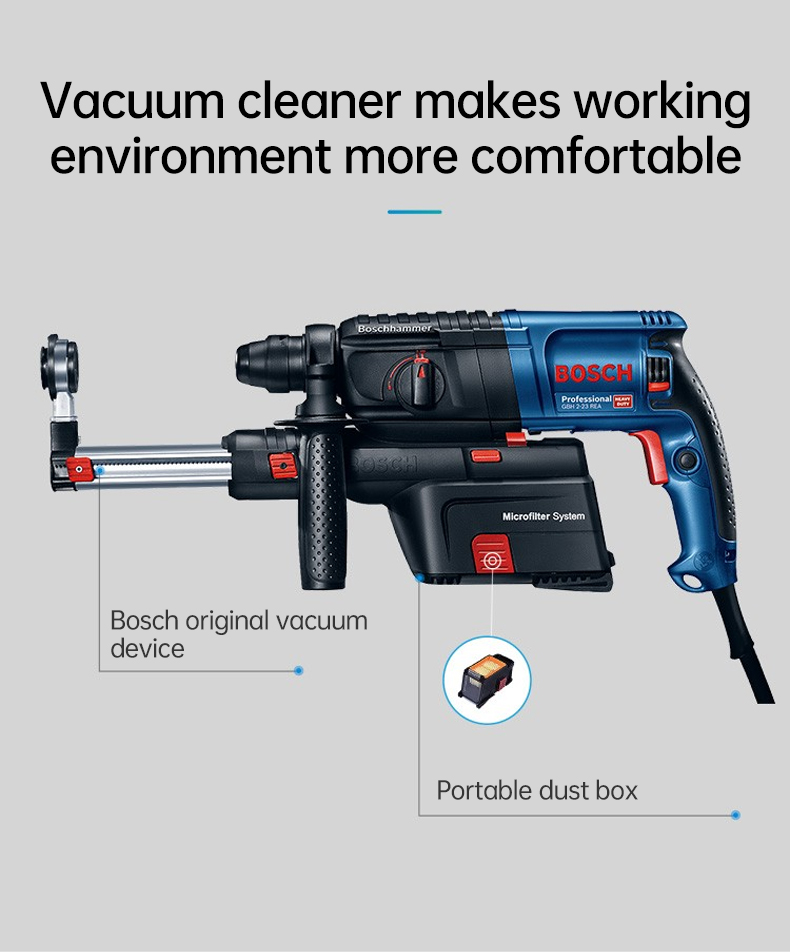 Vacuum cleaner makes working environment more comfortable