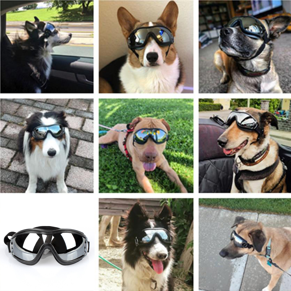 2020 HOT Adjustable Pet Dog Goggles Sunglasses Anti-UV Sun Glasses Eye Wear Protection Waterproof Sunglasses Pet Dog Supplies 8