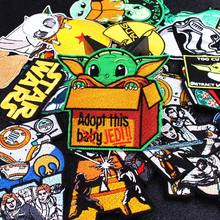 Mandalorian Patch iron on patches for clothes star wars stripe stickers embroidered clothing baby yoda