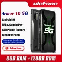 Ulefone-teléfono inteligente Armor 10 5G, resistente al agua, Android 10, 8GB + 128GB, IP68, IP69K, 6,67 pulgadas, cámara de 64MP