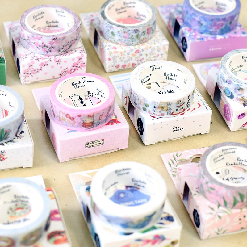 Decorative Nature Plant Flower Leaves Animal Washi Tape Diy Scrapbooking Adhesive Masking Tape School Office Supply Stationary