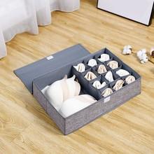 Clothes Storage Box Organizer Foldable Closet Organizer For Bra Underwear Drawer Divider Storage Tool Bra Underwear Drawer #LR3 tanie tanio ISHOWTIENDA Włókniny tkaniny 45x20x5