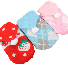 Dog Clothes Teddy Puppy French Bulldog Chihuahau Autumn Winter Cat Strawberry Sweater