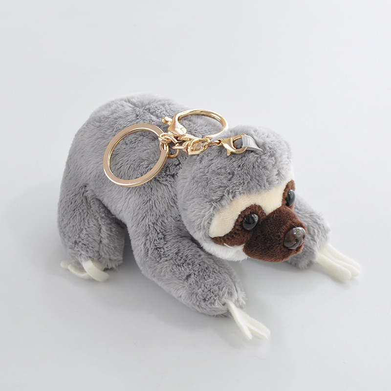 Image 2 - 12cm Cute Lying Sloth Plush Bag Pendant Staffed Kawaii Animal Plush Toys for Kids Children Lovely Doll Key Chains Gift-in Stuffed & Plush Animals from Toys & Hobbies