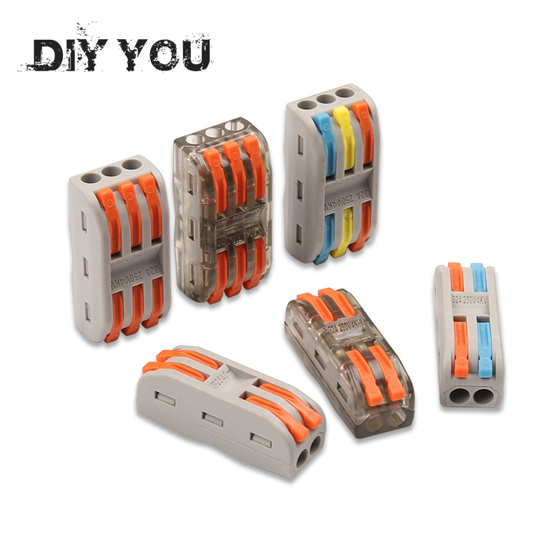 Permalink to 10-100PCS Wire Connectors PCT-222 Terminal Block Conductor SPL-2/3 Push-In Mini Terminal Block Cable Splitter Led Light conector