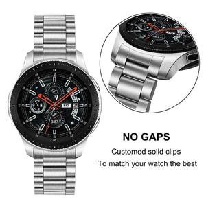 Image 2 - Unique Stainless Steel Watchband + No Gap Clips for Samsung Galaxy Watch 46mm SM R800 Hand Detach Band Quick release Strap Belt