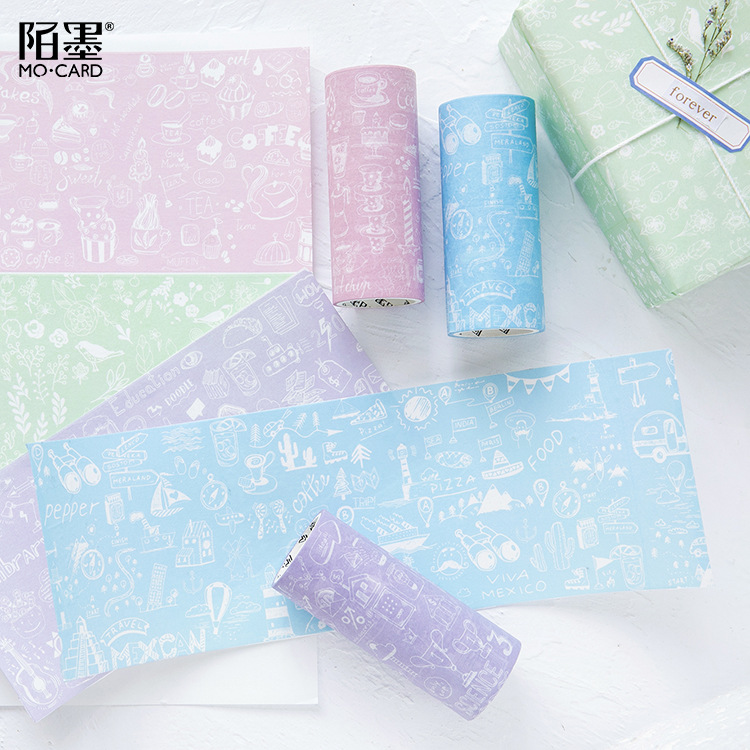 10cmx5m Mohamm Decorative Paper Washi Tape Masking Tape Packing Gift Tape Space Stationery Stickers Scrapbooking