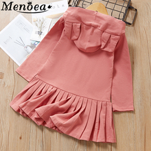 Menoea 2016 New Autumn Fashion Girls Dress Princess Dresses Children Clothing Cute Flare Sleeve Clothes Long