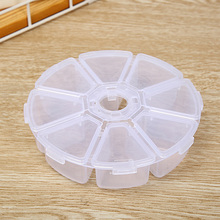 Storage Box Earring Bead Container 8 grid Cosmetic Makeup Organizer Plastic Boxes For Pills  Jewelry Round Mini Case Home Office mini clear plastic small box jewelry earplugs storage box case container bead makeup clear organizer gift